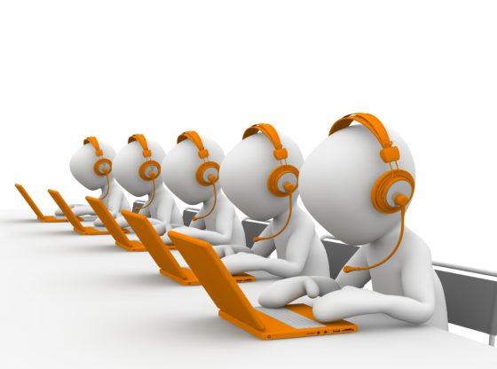 réception d'appel en entreprise
