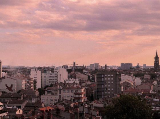 coucher de soleil à Toulouse
