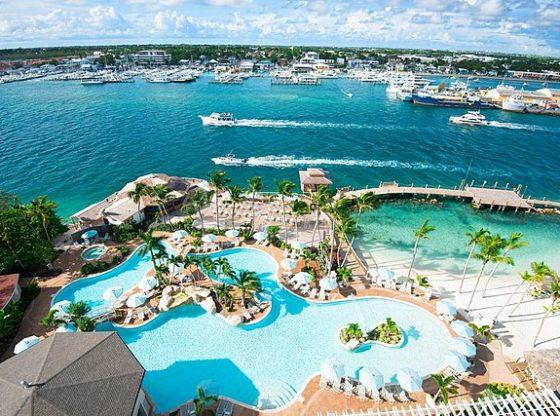Vacance au soleil sur une plage des Bahamas